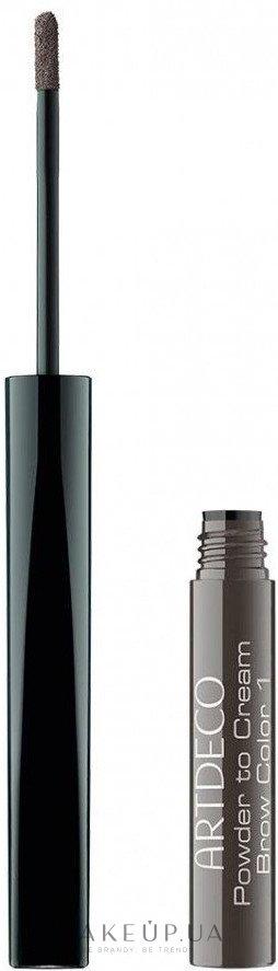 Кремовая пудра для бровей - Artdeco Powder to Cream Brow Color — фото 1 - Dark
