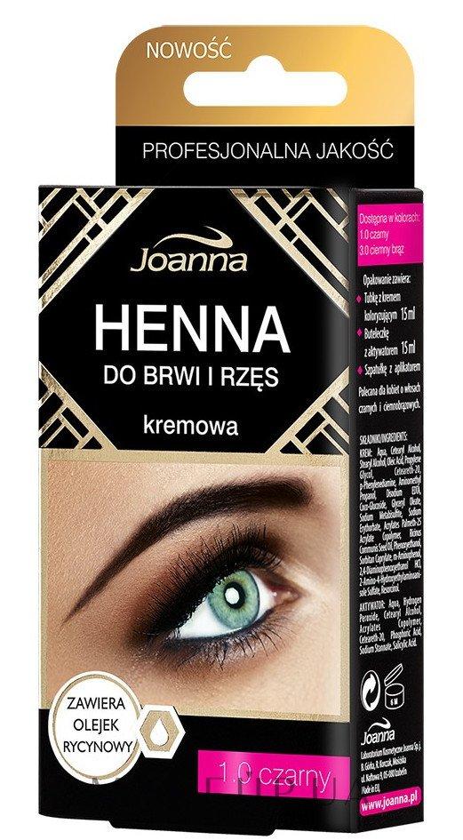 Краска для бровей и ресниц - Henna — фото 1.0 - Czarny