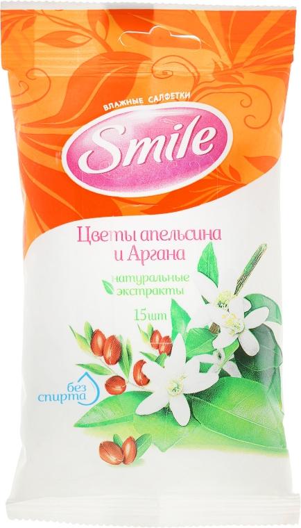 """Салфетки влажные """"Цветы апельсина и Аргана"""", 15шт - Smile Ukraine"""