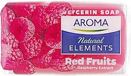 """Духи, Парфюмерия, косметика Туалетное мыло """"Красные фрукты"""" - Aroma Natural Elements Toilet Soap Red Fruits"""