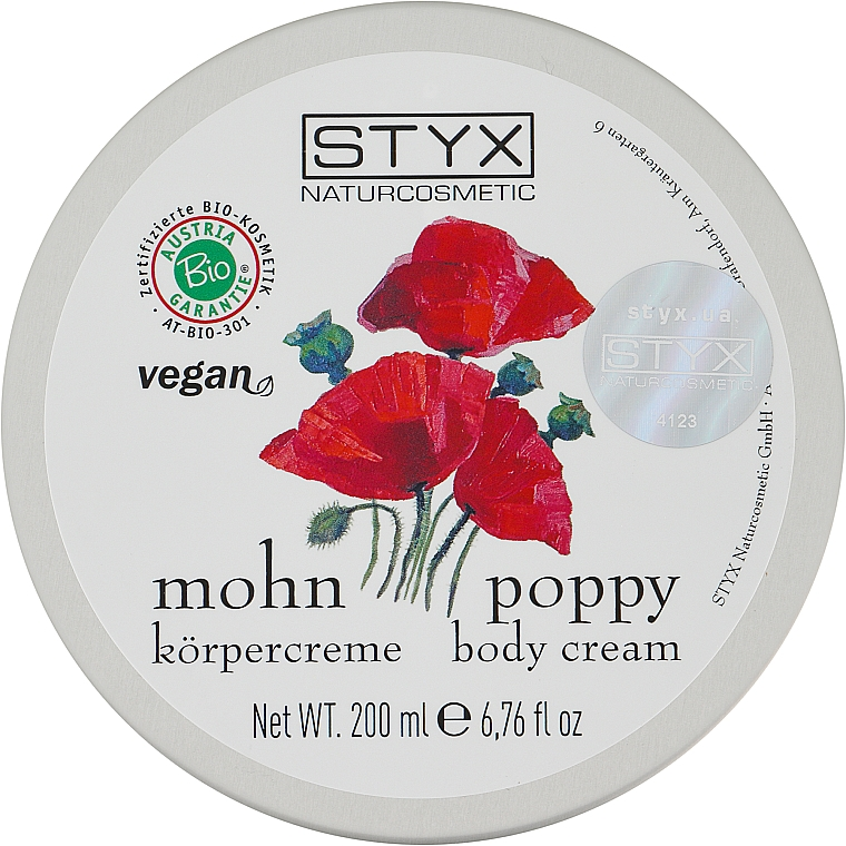 "Крем для тела ""Мак"" - Styx Naturcosmetic Mohn Poppy Cream Body"