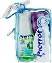 Духи, Парфюмерия, косметика Набор дорожный, фуксия - Pierrot Compact Dental Kit (m/wash/60ml+tpst/25ml+floss/30м.+tbrsh/1шт.)