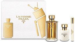 Духи, Парфюмерия, косметика Prada La Femme Prada - Набор (edp/100ml + b/lot/100ml + edp/mini/10ml)