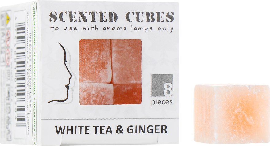 "Аромакубики ""Белый Чай имбирь"" - Scented Cubes White Tea & Ginger Candle"