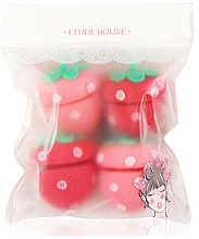 "Мягкие бигуди ""Клубничка"" - Etude House My Beauty Tool Strawberry Sponge Hair Roller — фото N1"