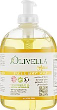 "Духи, Парфюмерия, косметика Мыло жидкое для лица и тела ""Абрикос"" на основе оливкового масла - Olivella Face & Body Soap Olive"