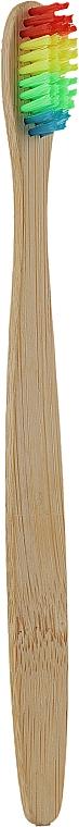 Бамбуковая зубная щетка с цветной щетиной - Eco Style