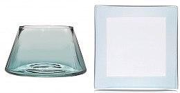 Духи, Парфюмерия, косметика Абажур и подставка для маленькой свечи - Yankee Candle Savoy Ombre Small Shade & Tray Set