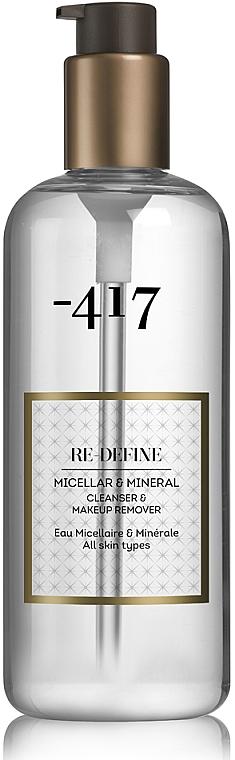 Вода мицеллярная для снятия макияжа с лица и глаз - -417 Re Define Micellar & Mineral Cleanser & Make Up Remover