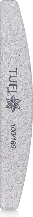 Пилочка-полукруг для ногтей 100/180, белая - Tufi Profi