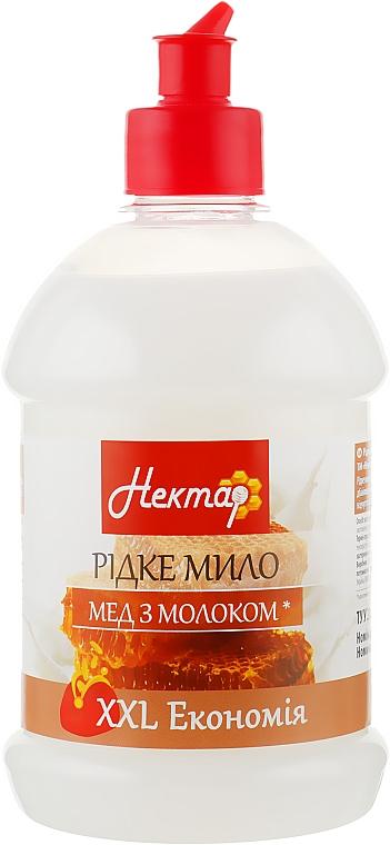 """Жидкое мыло """"Мед с молоком"""", пуш-пул - Aqua Cosmetics Нектар"""