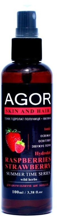 "Тоник ""Гидролат малина-клубника"" - Agor Summer Time Skin And Hair Tonic"