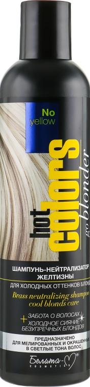 Шампунь-нейтрализатор желтизны для холодных оттенков блонд - Белита-М Hot Colors No Yellow Shampoo