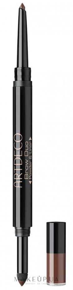 Пудра і олівець для брів - Artdeco Brow Duo Powder & Liner — фото 16 - Deep Forest
