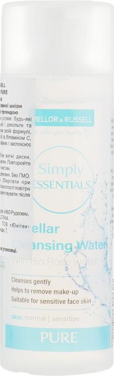 Мицеллярная вода для нормальной и комбинированной кожи с органической дамасской розой - Mellor & Russell Simply Essentials Pure Micellar Cleansing Water