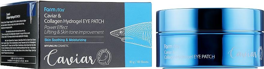 Гидрогелевые патчи для области вокруг глаз - FarmStay Caviar & Collagen Hydrogel Eye Patch