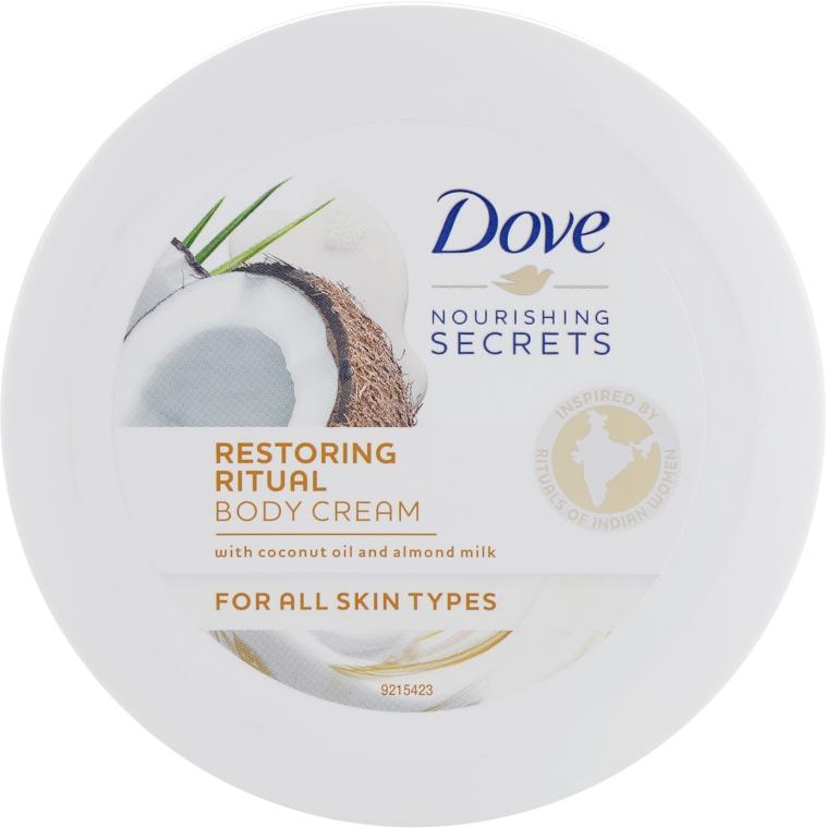 """Крем для тела """"Восстанавливающий"""" с кокосовым маслом и миндальным молочком - Dove Nourishing Secrets Restoring Body Cream"""