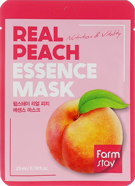 Маска тканевая для лица с экстрактом персика - FarmStay Real Peach Essence Mask
