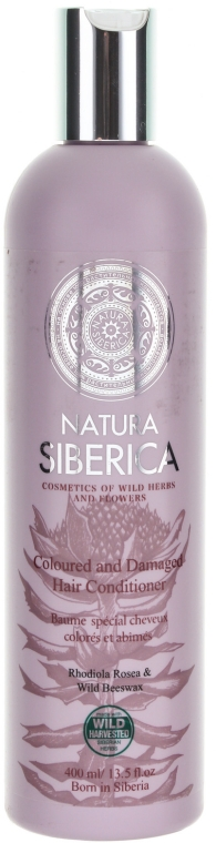 """Бальзам для защиты окрашенных и поврежденных волос """"Защита и блеск"""" - Natura Siberica"""