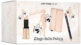 Духи, Парфюмерия, косметика Набор для губ - Diego Dalla Palma Lady Nude Lip Kit (lipstick/3/5g+lip/pencil/1.5g+bag)