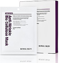 Духи, Парфюмерия, косметика Био-целлюлозная омолаживающая маска для лица - Royal Skin Prime Edition Anti-Wrinkle Bio Cellulose Mask