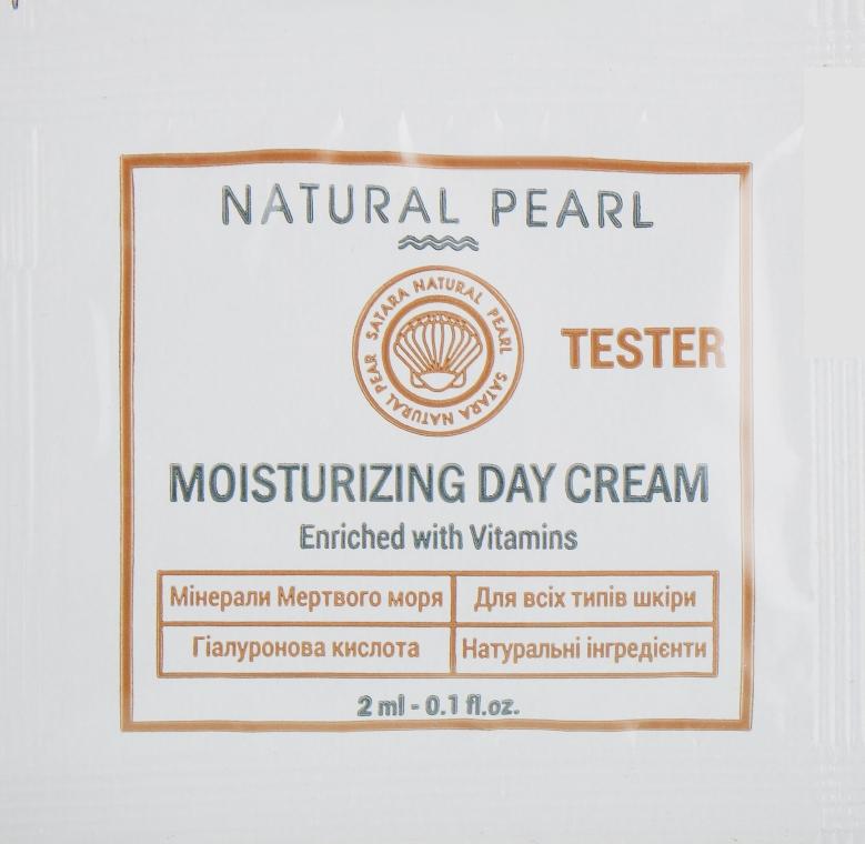 Увлажняющий дневной крем для всех типов кожи - Satara Natural Pearl Moisturizing Day Cream (пробник)