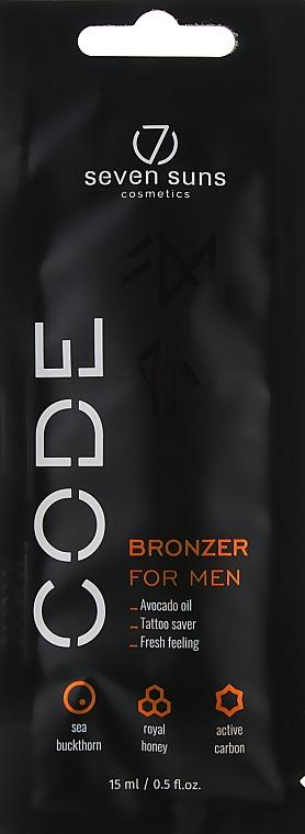 """Крем-бронзант для солярия """"Специальная формула для мужчин"""" - 7Suns Bronzer For Men (пробник)"""