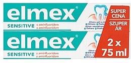 Духи, Парфюмерия, косметика Набор - Elmex Sensitive Toothpaste (toothpaste/2x75ml)