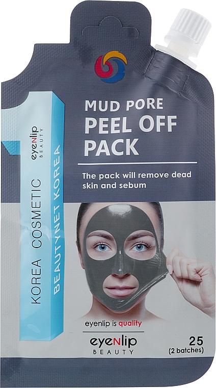 Маска-пленка с морской грязью - Eyenlip Mud Pore Peel Off Pack