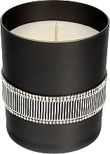 Духи, Парфюмерия, косметика Ароматическая свеча черная, 8х9,5см - Artman Crystal Glass