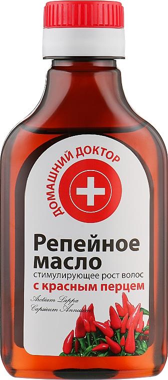 Репейное масло с красным перцем - Домашний Доктор
