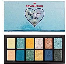 Духи, Парфюмерия, косметика Палетка теней для век - I Heart Revolution Mermaid's Heart Eyeshadow Palette