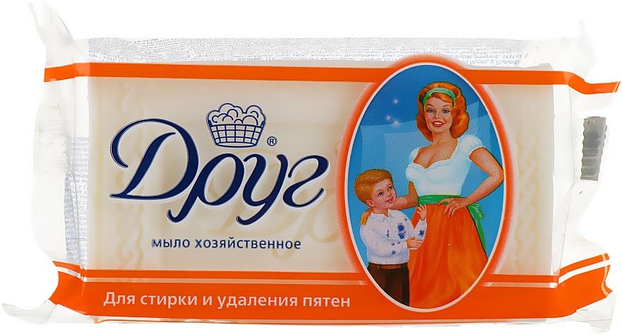 Хозяйственное мыло для стирки и удаления пятен - Друг