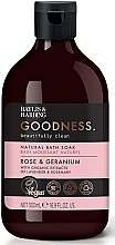 Парфумерія, косметика Піна для ванни - Baylis & Harding Goodness Rose & Geranium Natural Bath Soak