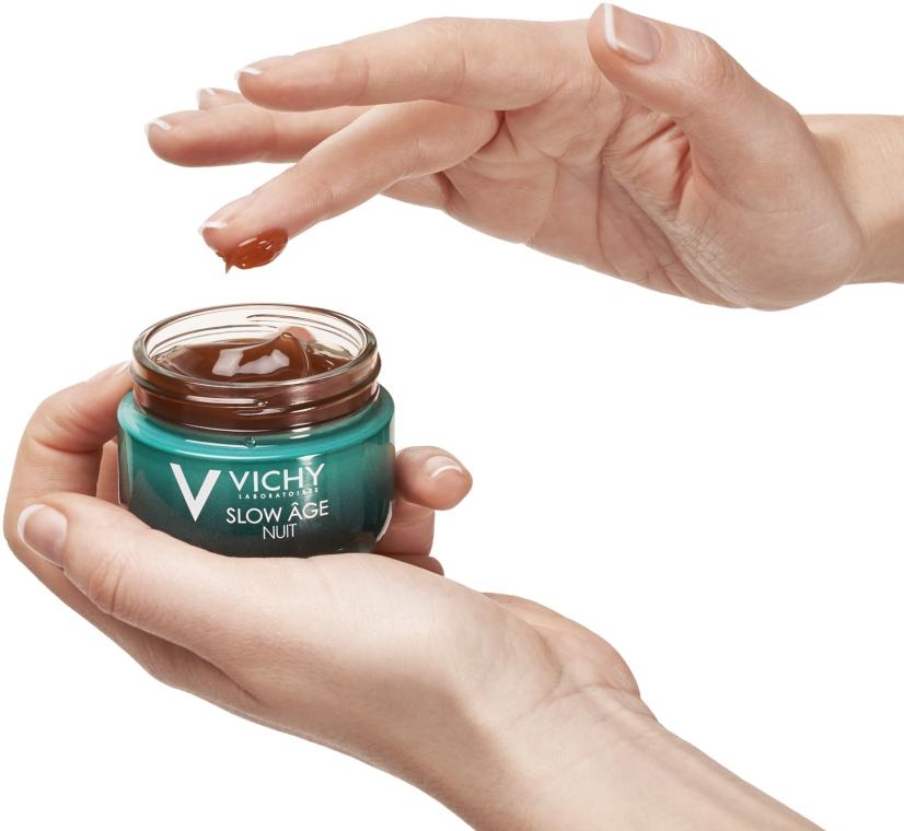 Ночная крем-маска для коррекции признаков старения кожи - Vichy Slow Age Fresh Cream & Mask — фото N5