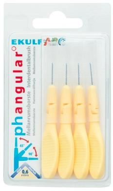 Щітки для міжзубних проміжків, 0.6 мм - Ekulf Ph Angular — фото N1