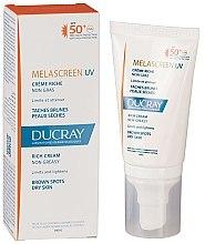 Духи, Парфюмерия, косметика Крем против пигментации для сухой кожи - Ducray Melascreen UV Rich Cream SPF 50+