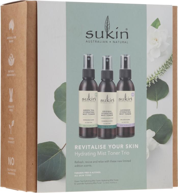 Набор - Sukin Revitalise Your Skin Hydrating Mist Toner Trio (toner/3x125ml)