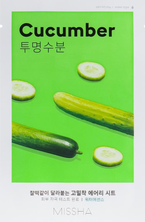 Маска для лица с экстрактом огурца - Missha Airy Fit Cucumber Sheet Mask