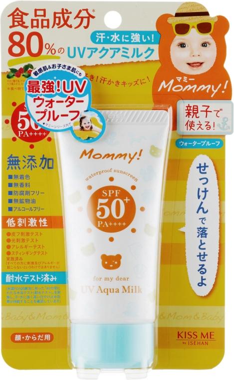 Мягкое солнцезащитное молочко - Isehan Mammy UV50 Aqua Milk