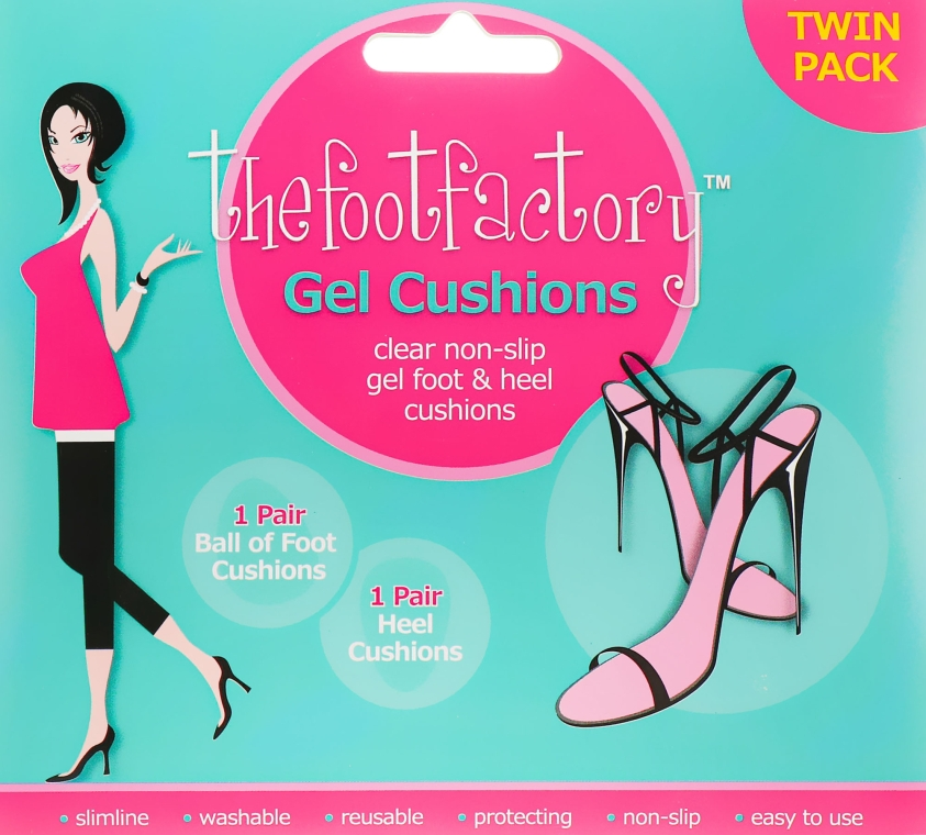 Гелевые подушечки для ног - The Foot Factory Twin Pack Gel Foot&Heel Cushions