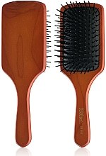 Духи, Парфюмерия, косметика Деревянная массажная щетка для волос 01994, квадратная - Eurostil Paddle Brush