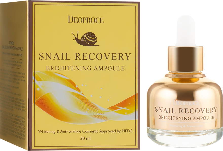 Сыворотка для лица осветляющая - Deoproce Snail Recovery Brightening Ampoule