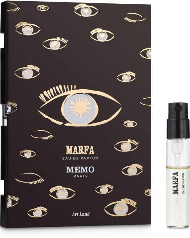 Memo Marfa - Парфюмированная вода (пробник)