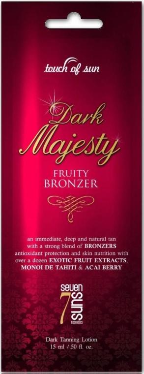 Крем для загара в солярии, экстратемный бронзант с омолаживающим эффектом - 7suns Dark Majesty (пробник)
