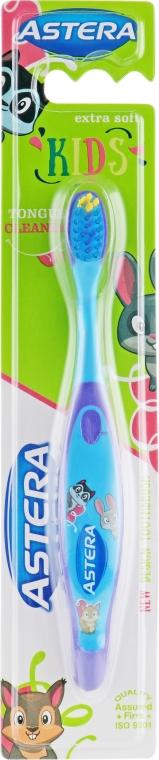 """Зубная щетка """"Kids"""", фиолетово-голубая - Astera Extra Soft"""