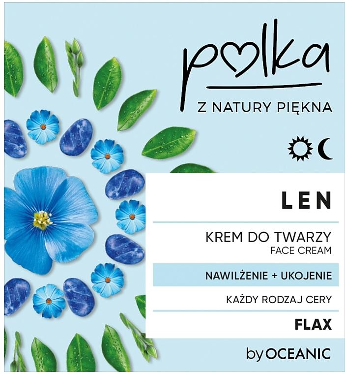 Увлажняющий и успокаивающий крем для лица со льном - Polka Flax Moisturizing & Soothing Face Cream