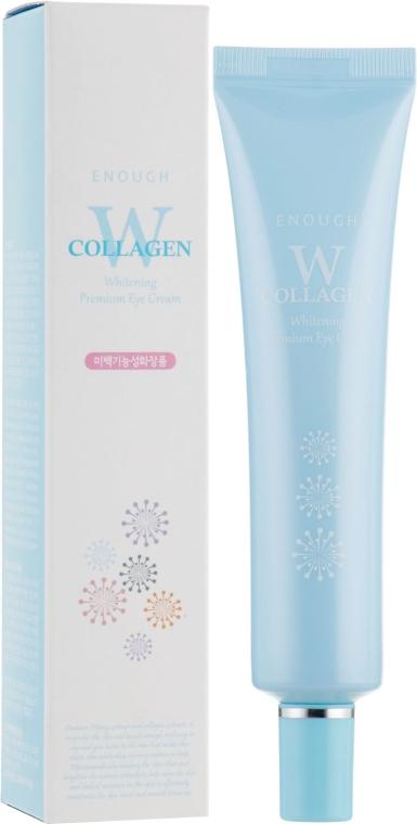 Крем для кожи вокруг глаз осветляющий с коллагеном - Enough W Collagen Whitening Premium Eye Cream