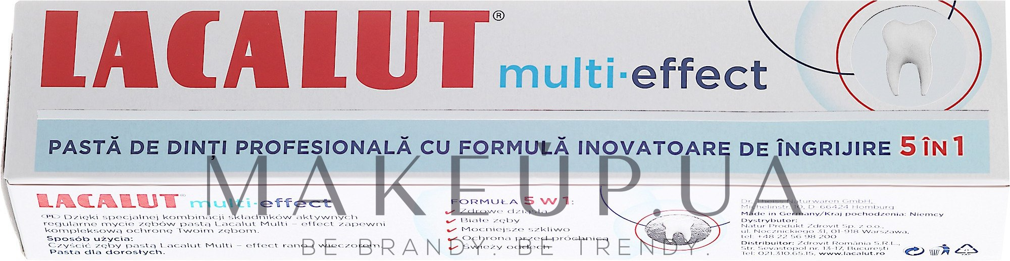 "Зубная паста ""Мульти-эффект"" - Lacalut Multi-Effect Toothpaste — фото 75ml"