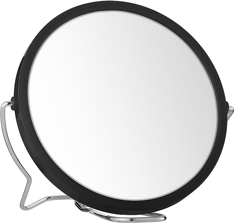 Двухстороннее косметическое зеркало, 13 см, черное - Titania